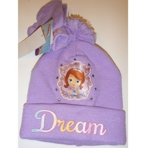 b496dfed70e Girls Sofia the First DREAM Winter HAT   Mittens